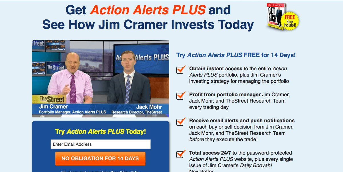 Image result for Sign up for a free trial of Jim Cramer's Action Alerts PLUS