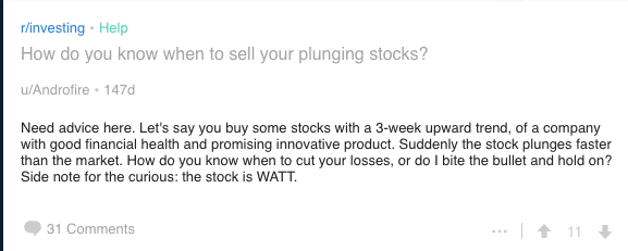 how-when-to-sell-plunging-stock-question