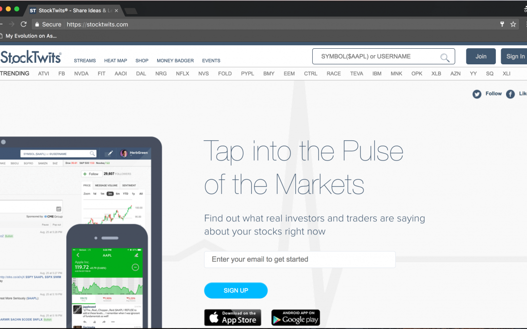 The Best Social Media Site for Traders and Investors? Stocktwits!